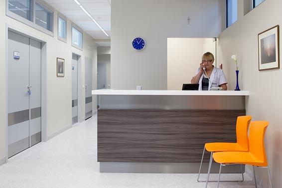 recepcja w klinice chirurgii plastycznej